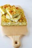 Zucchini slice on cutting board Stock Photos