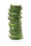Zucchini sliced pile Royalty Free Stock Images