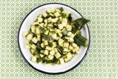 Zucchini slices Royalty Free Stock Photo