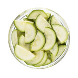 Zucchini Slices Isolated Royalty Free Stock Photo