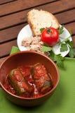 Zucchini som är välfylld med tonfisk Royaltyfri Fotografi