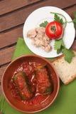 Zucchini som är välfylld med tonfisk Royaltyfri Bild