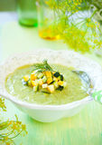 Zucchini soup Royalty Free Stock Image