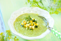 Zucchini soup Stock Images