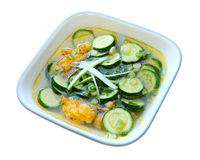Zucchini Soup. With ground shrimp Vietnamese cuisine stock photography