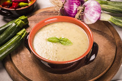 Zucchini soup Royalty Free Stock Images