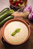 Zucchini soup Stock Photo
