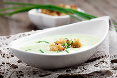 Zucchini soup Stock Photography