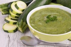 Zucchini soup Royalty Free Stock Image