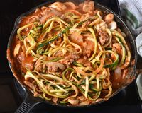 Free Zucchini Spaghetti Simmering Royalty Free Stock Images - 106310449