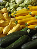 Zucchini and squash. At a farmers' market Stock Photography