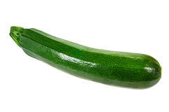Zucchini squash isolated on white Stock Photo