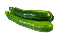 Zucchini squash isolated on white Stock Photography