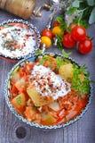 Zucchini, stufato con i pomodori ed il riso Immagine Stock Libera da Diritti
