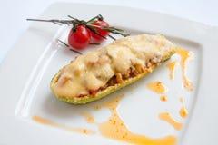 Zucchini stuffed Stock Photography