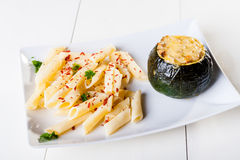 Zucchini stuffed Royalty Free Stock Images