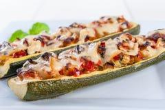 Zucchini stuffed Stock Photo