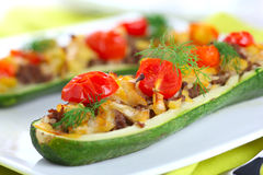 Zucchini stuffed with meat Royalty Free Stock Photo