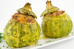Zucchini stuffed with meat Royalty Free Stock Photography
