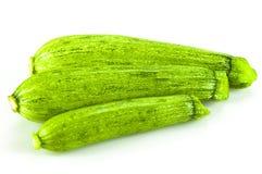 Zucchini su bianco Fotografia Stock Libera da Diritti