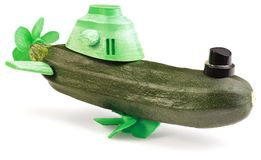 Zucchini Submarine Stock Photos