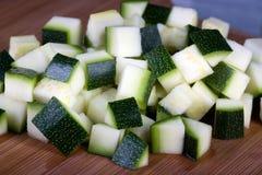 Zucchini tagliato Fotografia Stock Libera da Diritti