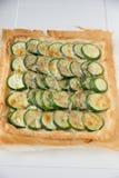 Zucchini tarte with fresh herbs Royalty Free Stock Image