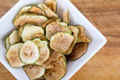Zucchini thin chips Royalty Free Stock Photography