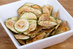 Zucchini thin chips Stock Photo