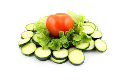 Zucchini and tomato Royalty Free Stock Photos