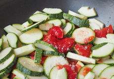 Zucchini with tomato Royalty Free Stock Photos