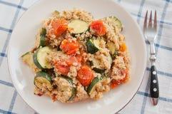 Zucchini Tomato Couscous Royalty Free Stock Photos