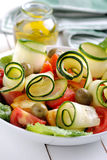 Zucchini and tomato salad Royalty Free Stock Images