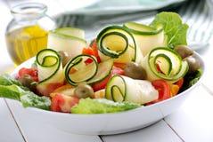 Zucchini and tomato salad Stock Image