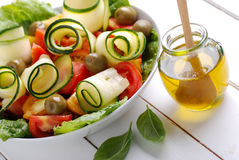 Zucchini and tomato salad Stock Image