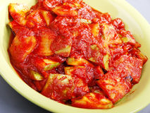 Zucchini with tomato sauce Stock Photography