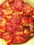 Zucchini with tomato sauce Royalty Free Stock Photos