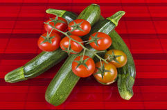 Zucchini and tomatoes Stock Photography