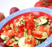Zucchini and tomatoes Stock Photos