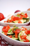 Zucchini and tomatoes Stock Images