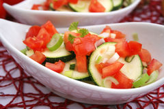 Zucchini and tomatoes Royalty Free Stock Image