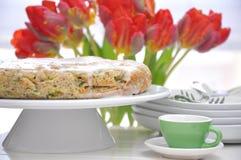 Zucchini tort zdjęcia stock