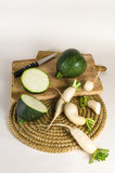 Zucchini and turnips royalty free stock image