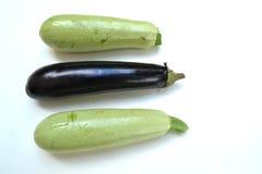 Zucchini und Aubergine Lizenzfreie Stockbilder