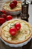 Zucchini- und Käsetörtchen Lizenzfreies Stockfoto