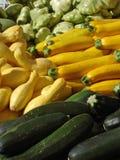 Zucchini und Kürbis Stockfotografie