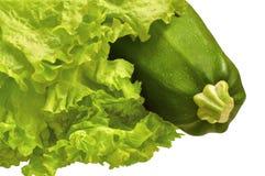 Zucchini und Kopfsalat Lizenzfreies Stockbild