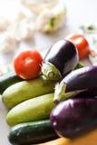 Zucchini und Tomaten Lizenzfreie Stockfotos