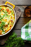 Zucchini under crispy cheese crust Royalty Free Stock Photos