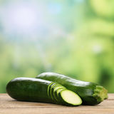 Zucchini vegetables in summer Royalty Free Stock Image